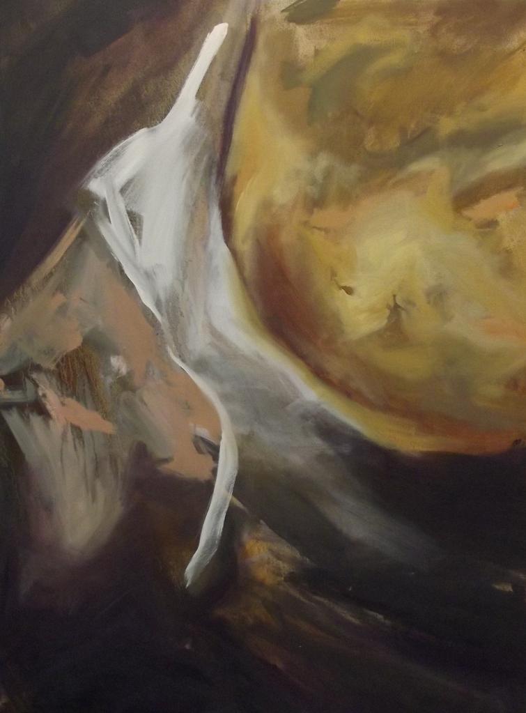 """Gemäldegalerie Painting II oil on canvas, 30 x 40"""" 2015"""